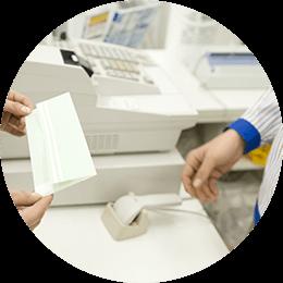 店頭のレジと連携するイメージ